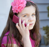 Pretty young girl Stock Images