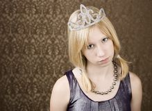 Pretty young girl with a tiara Royalty Free Stock Photos