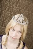 Pretty young girl with a tiara Royalty Free Stock Photo