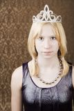 Pretty young girl with a tiara Stock Photography