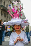Unique flower Bonnet Stock Images