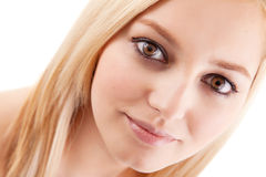 Pretty Young Lady Close up Stock Photography
