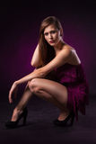 Pretty young lady in a fashion pose Royalty Free Stock Images