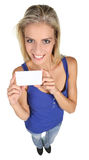 Pretty Young Lady with Sign Board Royalty Free Stock Photo