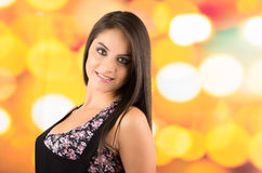 Pretty young long haired brunette girl posing Royalty Free Stock Photo