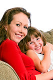 Pretty Young Mother and Daughter Royalty Free Stock Photos
