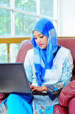 Pretty young muslim woman Stock Image