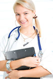 Pretty young nurse Stock Images