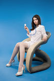A pretty young nurse with a stethoscope Royalty Free Stock Photo