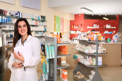 Pretty young pharmacist Royalty Free Stock Photography