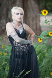 Pretty young punk woman in lingerie Royalty Free Stock Images