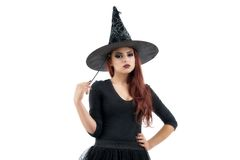 Pretty young redhead witch Royalty Free Stock Images