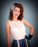 Pretty young retro styled female Stock Photography