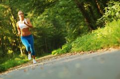 Pretty Young Runner Stock Images