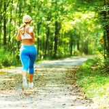 Pretty Young Runner Royalty Free Stock Images