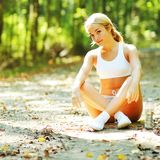 Pretty Young Runner Stock Image