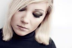 Pretty young  sad woman portrait Royalty Free Stock Photo