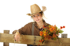 Pretty Young Scarecrow Stock Photography