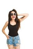 Pretty young fashion sensual woman posing on royalty free stock image