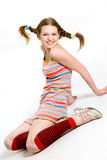 Pretty young smiling model Royalty Free Stock Image