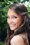 Pretty young smiling woman Royalty Free Stock Photography