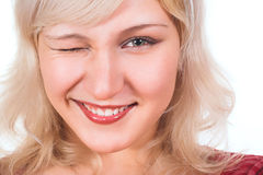 Pretty young smiling woman Stock Photo