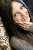 Pretty young smiling woman royalty free stock photo