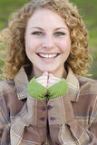 Pretty Young Smiling Woman Portrait Stock Photography