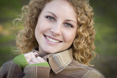 Pretty Young Smiling Woman Portrait Stock Photo