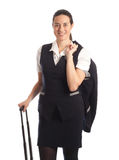 Pretty young stewardess Royalty Free Stock Photography