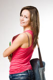 Pretty young student girl. Stock Image