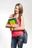 Pretty young student girl. Royalty Free Stock Photo