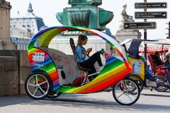 Free Pretty Young Taxi Bike Driver Stock Photos - 174839383
