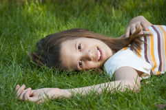 Pretty young teenage girl smiling Royalty Free Stock Images