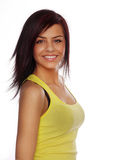 Pretty young teenage woman smiling Royalty Free Stock Images