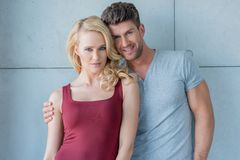 Pretty Young White Couple Looking at Camera Royalty Free Stock Photography
