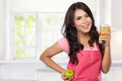 Pretty young wife diet Stock Image