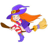 Pretty young witch Stock Images