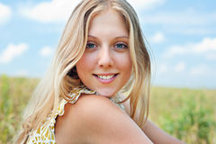 Pretty young woman royalty free stock images