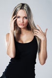 Pretty young woman. Portrait of a pretty young woman Stock Image