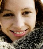 Pretty Young Woman. With perfect teeth Royalty Free Stock Photography