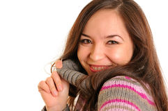 Pretty young woman. Photo of an attractive young woman in a sweater Stock Photo