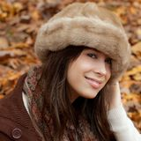 Pretty Young Woman in Autumn Stock Photography