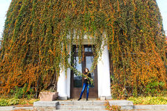 Pretty young woman in autumn Royalty Free Stock Images