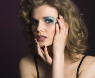 Pretty young woman with beauty make up Stock Photography
