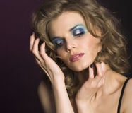 Pretty young woman with beauty make up Royalty Free Stock Images