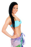 Pretty young woman in bikini and pareo. Stock Photography