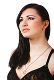 Pretty young woman in black dress Stock Photography