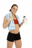 Pretty young woman with a bottle of water Stock Photo