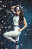 Pretty young woman in cosmic costume Royalty Free Stock Photo